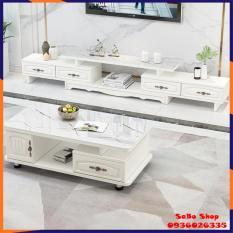 Kệ Tivi phòng khách – Kệ tủ Tivi bằng gỗ lắp ghép mặt kính – Tủ kệ tivi hiện đại phong cách châu Âu sang trọng trang trí nhà cửa – Kệ tivi có thể thu gọn