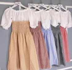 Váy Caro Phối Yếm (may liền) đủ màu