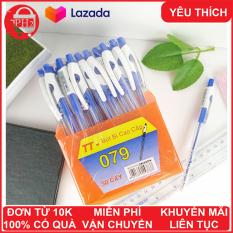 Khay 50 bút bi xanh cao cấp TT- 079 giá rẻ chất lượng tốt ( 1700đ/ cây) ✓ống đựng bút ✓khay đựng bút ✓bút cute ✓bút bi ✓bút bi cao cấp ✓bút mực ✓bút bi cute ✓ Phát Huy Hoàng