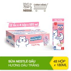 Thùng 48 hộp sữa Nestlé Gấu hương dâu trắng 12(4x180ml)