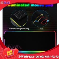 Bàn di chuột 80×30 ( miếng lót ) có đèn LED RGB 16 triệu màu loại lớn size 300*800*4mm – Pad full cho bàn phím và chuột