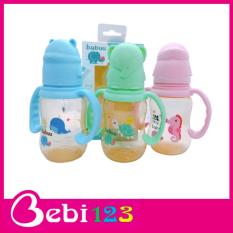 Bình sữa tay cầm nắp hình thú Babuu Nhật Bản 120ml và 240ml cho bé
