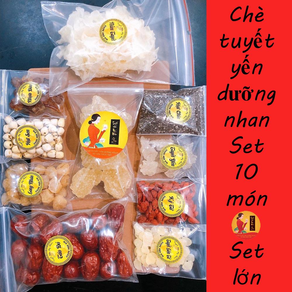 Combo 10 gói nguyên liệu nấu chè Tuyết Yến Dưỡng Nhan (nấu được 14 – 16 ly) – Chè Dưỡng Nhan – Nguyên liệu nấu chè Dưỡng Nhan