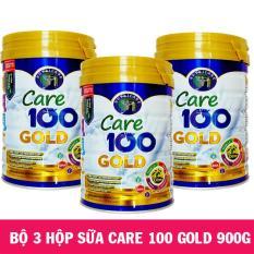 Bộ 3 hộp Sữa CARE 100 GOLD 900g (1-10 tuổi)