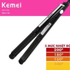 Máy duỗi tóc,là tóc 5 mức chỉnh nhiệt KEMEI 2139 bản là