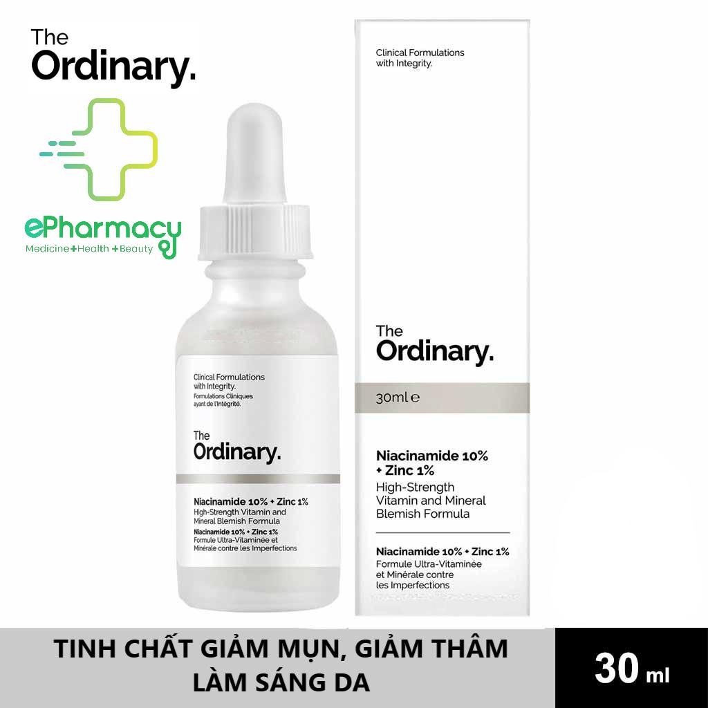 [HCM]Serum Niacinamide 10% + Zinc 1% The Ordinary – Tinh Chất The Ordinary kiềm dầu giảm mụn giảm thâm