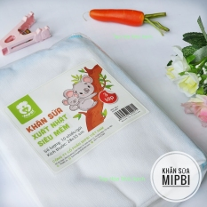 Khăn sữa XUẤT NHẬT MIPBI – Set 10 chiếc – 100% Cotton Kích thước 30 x 30cm