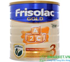 Sữa Bột Friso lac Gold 3 lon 1.5kg (cho trẻ 1 – 2 tuổi) – HSD luôn mới