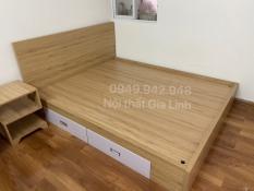 Giường ngủ có hộc kéo 1m6*2m tặng 1 Nệm +1 kệ đầu giường- giao HCM hoặc chành xe với tỉnh