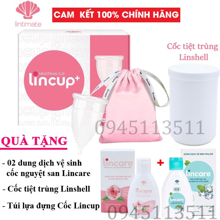 Bộ Cốc nguyệt san Lincup, Lincup+ Chính hãng từ Mỹ bởi Công ty Lintimate