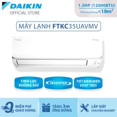 Máy Lạnh Daikin Inverter FTKC35UAVMV – 1.5HP (12000BTU) Tiết kiệm điện vượt trội – Luồng gió Coanda – Tinh lọc không khí – Khử ẩm 25% – Độ bền cao – Chống ẩm mốc – Chống ăn mòn – Làm lạnh nhanh – Hàng chính hãng