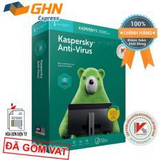Phần mềm Kaspersky Anti Virus 1PC box phân phối bởi Nam Trường Sơn, bảo mật thiết yếu cho 1 máy tính (Hộp Xanh lá)