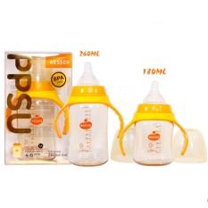 Bình sữa cổ rộng Wesser PPSU 180ml/ 260ml không PBA an toàn cho bé – BEEKIDS PLAZA