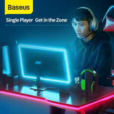 Baseus 1.5M USB Gaming LED Strip Light RGB Sport Game Light For PC Laptop Colorful Cool Black Control Lighting Electronic Lamp For Computer