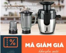 [E-VOUCHER]Giảm ngay 30% khi mua sản phẩm áp dụng Máy ép Mishio MK197 (tặng cối sinh tố + cối xay khô) Giá niêm yết 1tr299