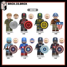 X0236 – Đồ chơi lắp ráp mô hình sáng tạo minifigure nhân vật lego siêu anh hùng marvels các phiên bản captain america