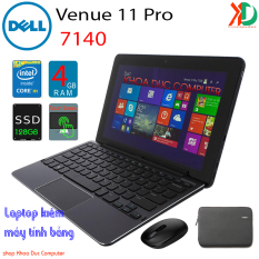 [Nhập ELMAY21 giảm 10% tối đa 200k đơn từ 99k]Laptop 2 trong 1 kiêm máy tính bảng Dell Venue 11pro 7140 Core M-5Y71 4gb Ram 128gb SSD 11inch Full HD