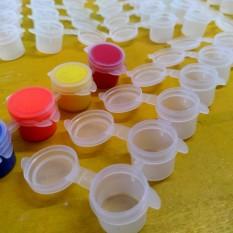 Vĩ đựng màu, Khay đựng màu nước 6 ô, mỗi ô 5ml, có nắp đậy kín