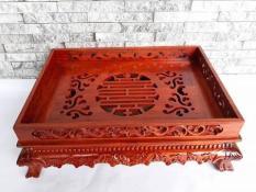 Khay trà gỗ hương (42 x 32 x 12cm)