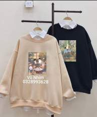 Áo Sweater nỉ bộ sưu tập yêu thương