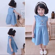 Váy Jean thêu thỏ cho bé gái – Xuongmay88 QATE607