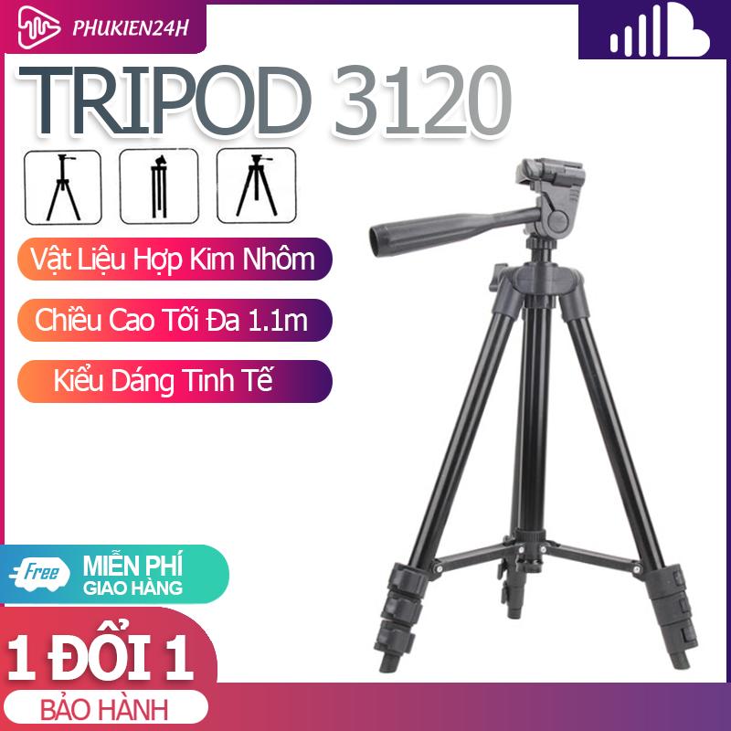 Giá đỡ chụp ảnh điện thoại - Gậy tự sướng Tripod 3 chân tương thích với nhiều dòng máy
