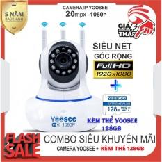 (Camera wifi yoosee xoay 360 độ-Chuẩn 2.0 mpx -Tùy chọn kèm thẻ 128 YOOSEE CHUYÊN DỤNG ,BH 5 NĂM ) – CAMERA IP WIFI,camera yoosee 3 râu-SIÊU NÉT 2.0 FULL HD 1920 x 1080P(CÓ 4 MÃ KHÔNG THẺ,32GB,64GB,128GB