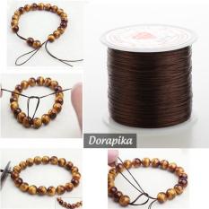 Dây chun chỉ co giãn màu nâu xỏ vòng tay phong thủy vòng hạt các loại – dorapika