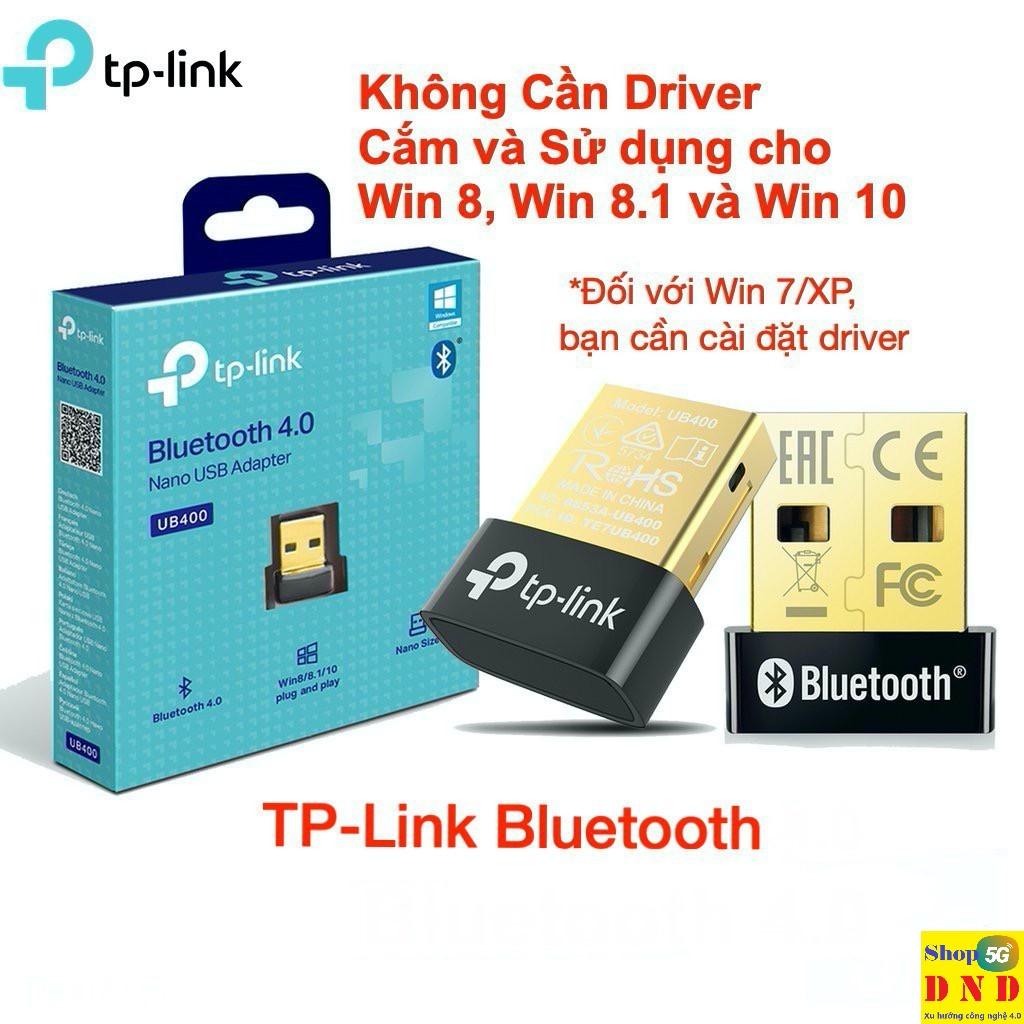USB Bluetooth 4.0 TP-Link UB400 dùng cho máy tính - Kết nối bluetooth từ máy tính qua loa - Chính...