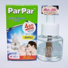 Tinh dầu đuổi muỗi EM BÉ VỎ XANH 480H parpar 45ml SỬ DỤNG 30 ĐÊM VỎ HỘP MỚI dùng cho các máy XÔNG TINH DẦU ĐUỔI MUỖI,an toàn cho trẻ nhỏ và không độc hại