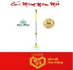 Cây lau nhà 360 độ thân inox lớn cao cấp PP5.1 Gia Phú + bông lau ( xanh lá )