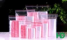100g Túi zip chỉ đỏ loại dày đẹp – Ấn vào chọn size – (bịch PE vuốt mép đựng phụ kiện, gia vị, thực phẩm, thuoc tay)