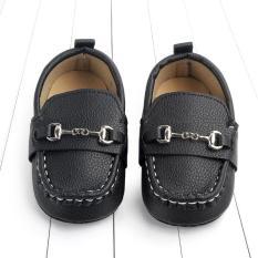 Giày mọi đế mềm màu đen cho bé trai(13cm)(9-18 tháng)