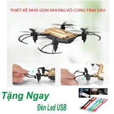 Flycam Mini KY301 cánh gấp gọn Bay Siêu Tốc – Nhào lộn 360 Độ, Chế độ bay không đầu + Tặng Đèn Led USB