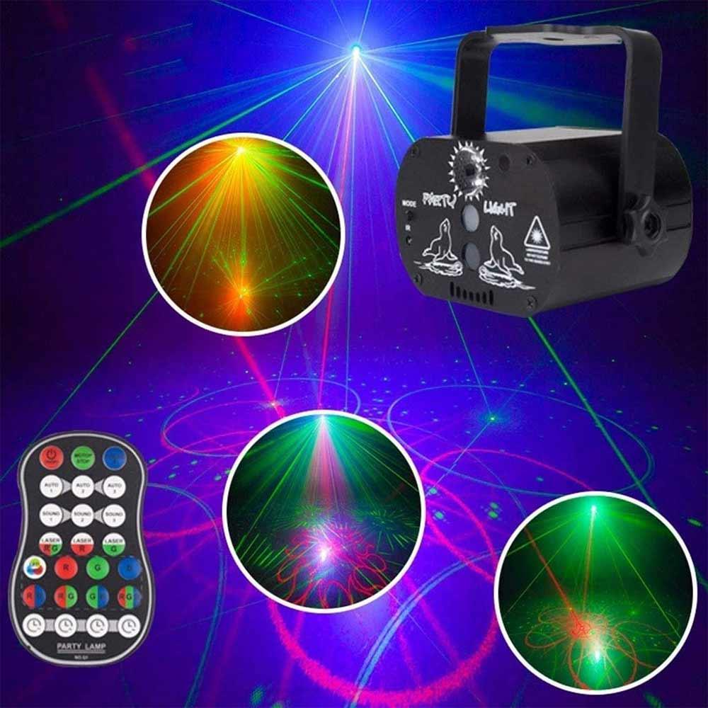 60 Model LED Laser Projector Stage Lights RGB Lighting Remote Control Party Club KTV DJ Disco Light