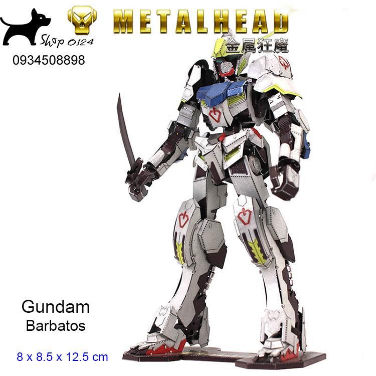 Mô hình thép 3D tự ráp Gundam Barbatos màu