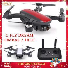 Version 2 – Máy Bay Flycam C-Fly Dream Gimbal 2 trục, 1080P HD Camera, đông cơ không chổi than đối thủ của DJI Spark
