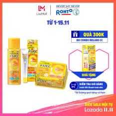 Bộ sản phẩm dưỡng trắng chống thâm nám Melano CC (Dung dịch 170ml + Tinh chất 20ml + Mặt nạ 20 miếng) (HSD dưới 1 năm)