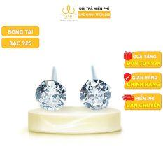 QMJ Bông tai bạc 925 Đính đá cao cấp, khuyên tai dành cho cả nam và nữ, phụ kiện thời trang đơn giản – QKL0091