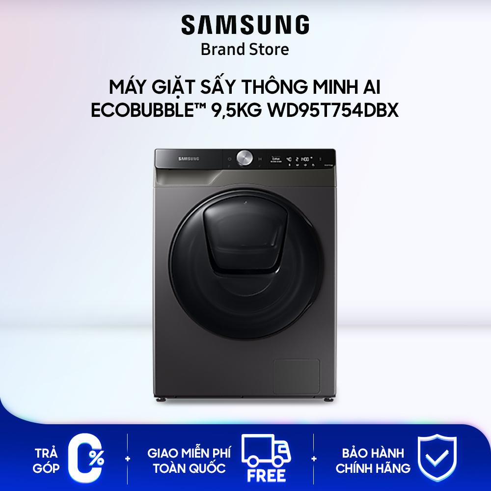 Máy giặt sấy thông minh Samsung AI EcoBubble™ 9,5kg (WD95T754DBX)