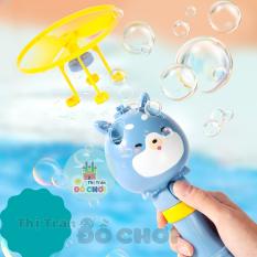 Đồ chơi chong chóng bong bóng xà phòng cầm tay kèm nước thổi bong bóng cho bé, có thể bay trên không trung