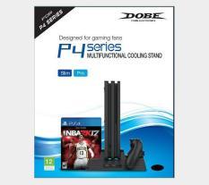 Bộ để đĩa kèm sạc tay và tản nhiệt cho PS4 Pro Slim