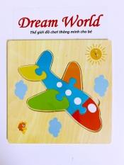 Đồ chơi gỗ – Tranh ghép 3D bằng gỗ cho bé gồm 6 miếng ghép – Dreamworld
