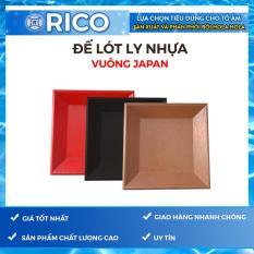 [Nhập ELJAN11 giảm 10%, tối đa 200k, đơn từ 99k]Bộ 10 Đế lót ly nhựa cứng Rico Vuông Japan