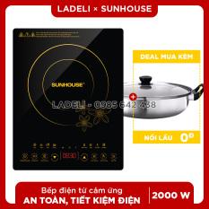 Bếp điện từ cảm ứng SUNHOUSE SHD6800 nấu nhanh, bảo hành 12 tháng