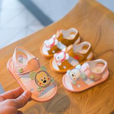 Giày tập đi Sandal cho bé trai bé gái tập đi đế mềm chống trơn trượt, phát tiếng kêu phong cách Hàn Quốc G35