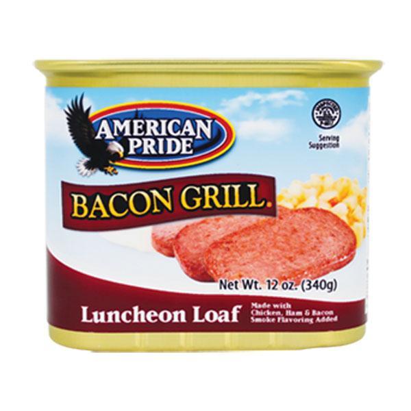 Thịt Hộp Xông Khói American Pride Bacon Grill Luncheon Loaf 340g (Hộp)