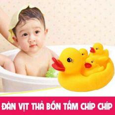 Combo 10 đàn vịt thả bồn tắm cho bé