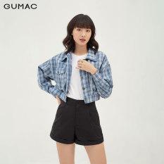 Áo khoác kiểu nữ dáng croptop thời trang GUMAC mẫu mới AB330, phong cách trẻ trung cá tính, màu xanh caro tươi mới, dễ phối đồ phù hợp nhiều hoàn cảnh, có hỗ trợ đổi hàng 7 ngày ( có hình mẫu thực tế)