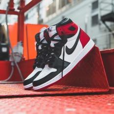 Giày Sneaker J0rdan 1 High satin Black toe ( JD1 Màu đỏ đen mũi giày trắng)